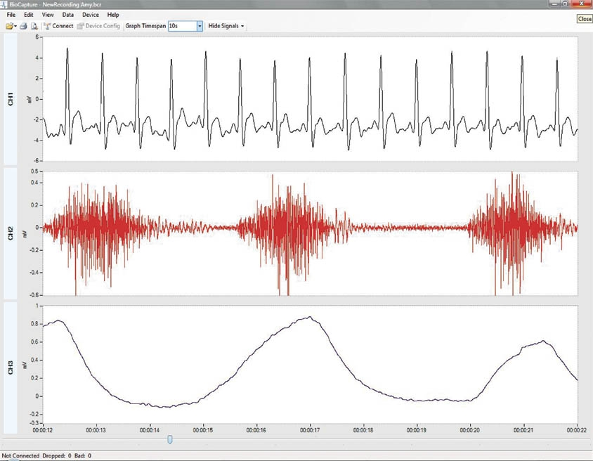 Physiological data analysis with BioCapture