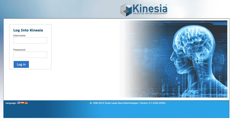 Kinesia Web Portal Image