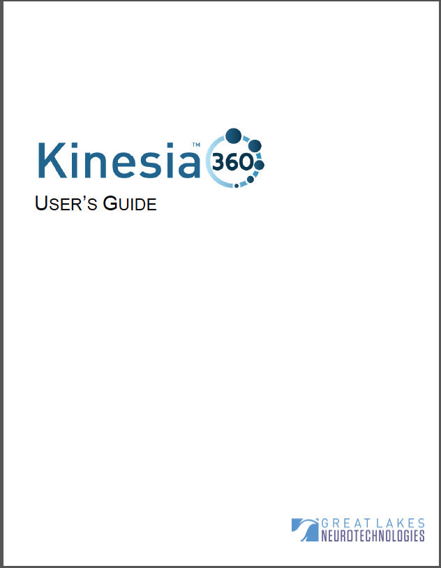 Kinesia 360 User Guide Image